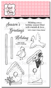 Season's Greetings Clear Stamp Set w/ FREE Die Set