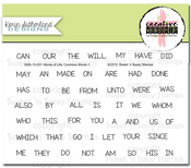 Words of Life: Common Words 1 Clear Stamp Set
