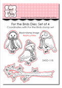 For the Birds Dies: Set of 4
