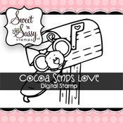 Cocoa Sends Love Digital Stamp