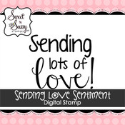 Sending Love Sentiment Digital Stamp