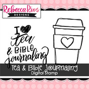 Tea & Bible Journaling Digital Set