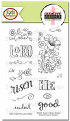 Creative Worship: The Lord is Risen Clear Stamp Set