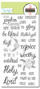 Creative Worship: He is Worthy Clear Stamp Set