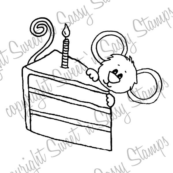Birthday Cake Cocoa Digital Stamp