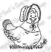 Henrietta Hen Digital Stamp