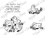 Spring Chicks Digital Stamp
