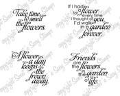 Flower Sentiments Digital Stamp