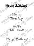 Masculine Birthday Greetings Digital Stamp