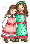 Kate & Lizzy Colored Digi Stamp