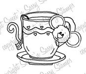 Teacup Cocoa Digital Stamp