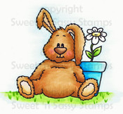 Benjamin Bunny Colored Tan Digital Stamp