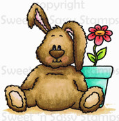 Benjamin Bunny Colored Brown Digital Stamp
