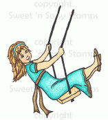 Gretchen's Swing Colored Digital Stamp