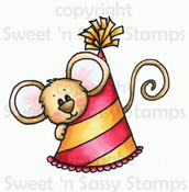 Party Hat Cocoa Colored Digital Stamp