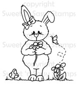 Bethany Bunny's Flower Digital Stamp