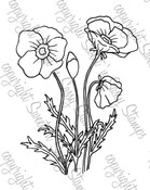 Poppies Digital Stamp