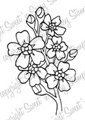 Forget-Me-Not Digital Stamp