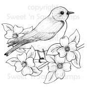 Bluebird Digital Stamp