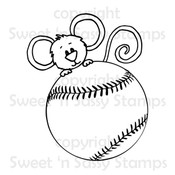 Cocoa Loves Baseball Digital Stamp