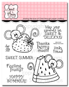 Feeling Fruity Cocoa Clear Stamp Set
