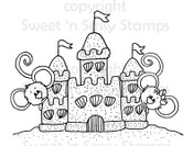 Cocoa & Cookie's Sandcastle Digital Stamp