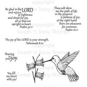 Hummingbird with Scripture Digital Stamp