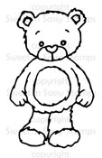 Rhubarb the Teddy Bear Digital Stamp