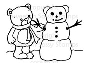 Rhubarb Builds a Snowbear Digital Stamp