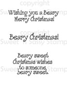 Beary Christmas Sentiments Digital Stamp