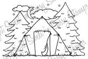 Campsite Digi Stamp