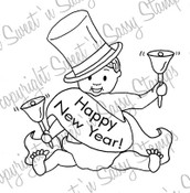 Baby New Year Digi Stamp