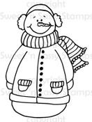 Bundled Up Snowman Digital Stamp