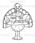Save the Turkeys Digital Stamp