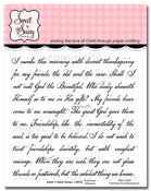 Friendship Script Background Clear Stamp