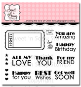 Ticket Sentiments Clear Stamp Set w/ FREE Die Set