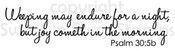 Psalm 30:5b Digital Stamp