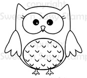 Opal Owl Digital Stamp