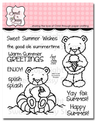 Summertime Rhubarb Clear Stamp Set