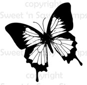 Blue Morpho Butterfly Digital Stamp