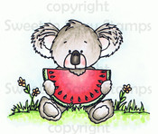 Kiwi Koala's Watermelon Colored Digital Stamp