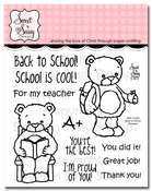 Back to School Rhubarb Clear Stamp Set