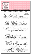 Script Sentiments Clear Stamp Set