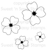 4 Petal Flowers Digital Stamp Set