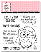 Happy Hoolidays Clear Stamp Set