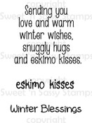 Eskimo Kisses Sentiments Digital Stamp Set