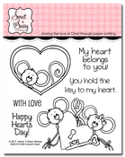 Cocoa's Heart Clear Stamp Set