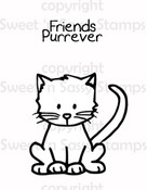Friends Purrever Digital Stamp