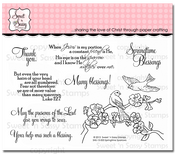 Springtime Sparrows Clear Stamp Set
