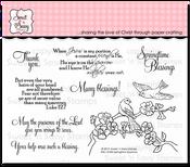 Springtime Sparrows Clear Stamp Set